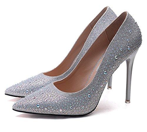 7cm 1 Heels High Ladies Leather Luxury Shoes Fashion Handmade crystal Hot Female rPpqWgcwrB