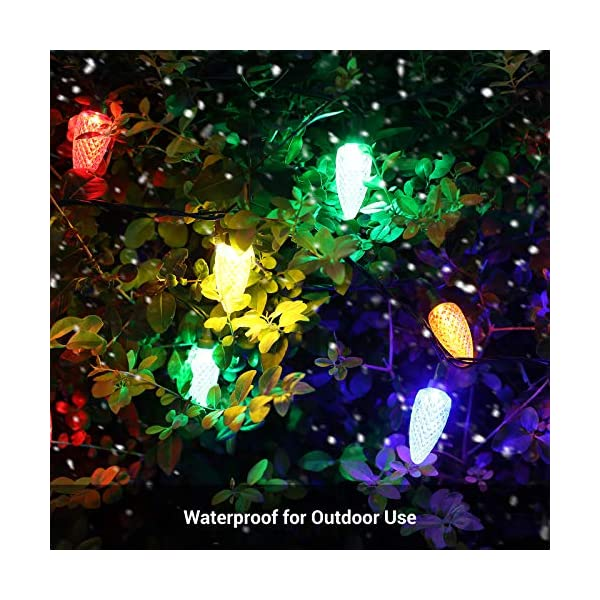 Dewenwils C9 Led Christmas String Light 33 3ft 50led Outdoor Decoration Lights Waterproof Multi Color Light String Blinkee Com
