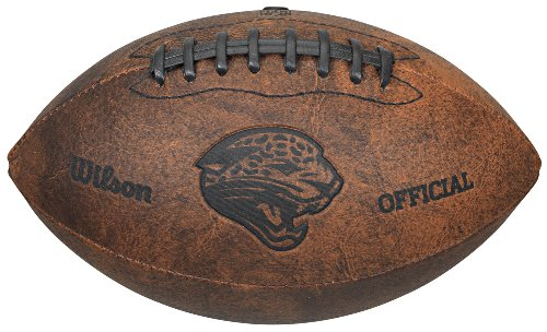 NFL Jacksonville Jaguars Vintage Throwback Football, 9-Inches