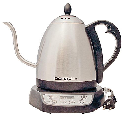Bonavita BV382510V Electric Kettle, Gooseneck Variable Temperature, 1.0L