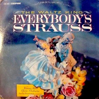 Johann Strauss Jr. The Waltz King: Everybody's Strauss (2 Record Set) Vienna State Opera Orchestra, Jascha Horenstein, Conductor Tracks: Die Fledermaus Overture, Perpetuum Mobile, Emperor Waltz, Amen-Polka, Vienna Blood, Artist's Life & 6 More.