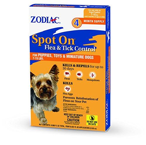 Zodiac  Flea & Tick Spot On  for Puppies 7-15 lbs 4-pack