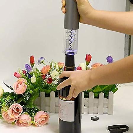 Sacacorchos EléCtrico del Vino con El Cuchillo De La Hoja, Sacacorchos AutomáTico De Carga por USB (Red)