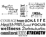 Update YOUR GYM or STUDIO with our Fitness Border Kit- Includes Our 20' Border and FOUR Motivational/Inspirational quotes for your workout area - Black - Removable Vinyl Wall Decal By Katazoom