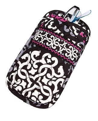 Vera Bradley Double Eye Sunglasses Holder (Canterberry Magenta)