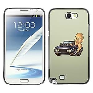 Design for Girls Plastic Cover Case FOR Samsung Note 2 N7100 Diesel Car Black Mustang Powerfult Hot OBBA