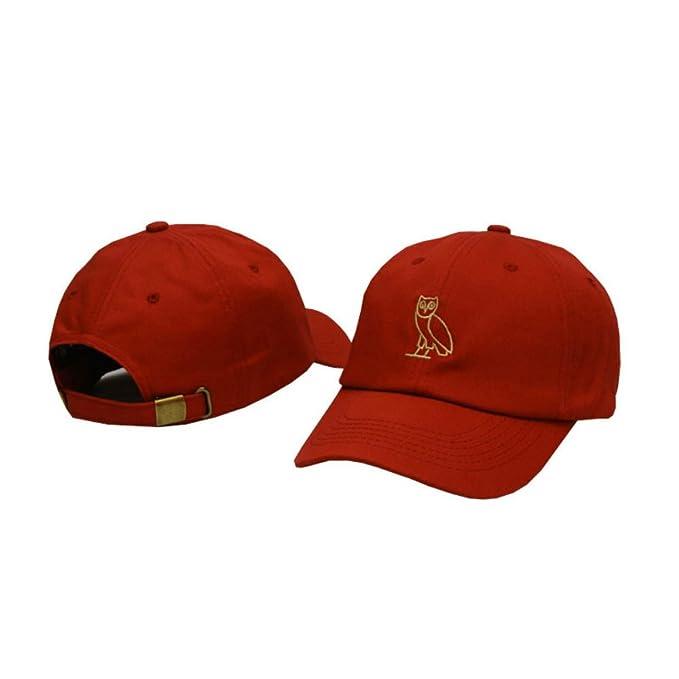 d0601bb9483 Hudiemengs Unisex Drake OVO Owl Baseball Hat Snapback Cap  Amazon.ca   Clothing   Accessories