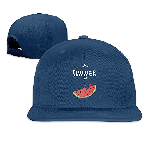 - Quxueyuannan Enjoy The Summer Time Adjustable Hat Baseball Flat Bottom Cap Navy