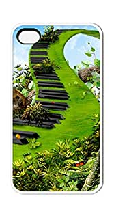 NBcase Green Piano Path hard PC iphone 4 case for teen girls