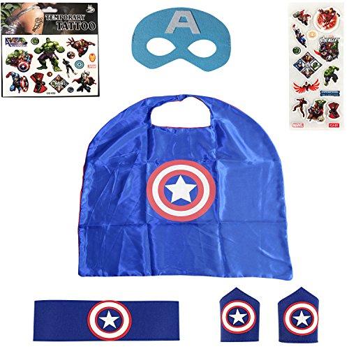 Captain America Costume Child | Superhero Cape Set | Including Accessories! (Captain America Toddler Girl Costume)