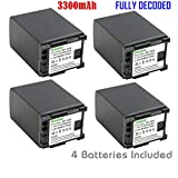 Kastar BP828 Battery (4-Pack) for Canon BP-828 and Canon VIXIA HF G30, XA20, XA25 Camcorders