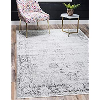 Unique Loom 3134032 Sofia Collection Traditional Vintage Beige Area Rug, 5' 0 x 8' 0 Rectangle, Gray