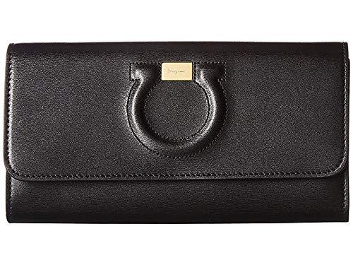 - Salvatore Ferragamo Women's Gancio City Wallet on a Chain, Nero, One Size