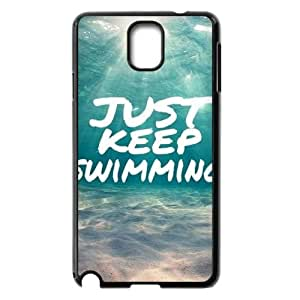 Hjqi - Personalized Just Keep Swimming Plastic Case, Just Keep Swimming Unique Back Case for Samsung Galaxy Note 3 N9000