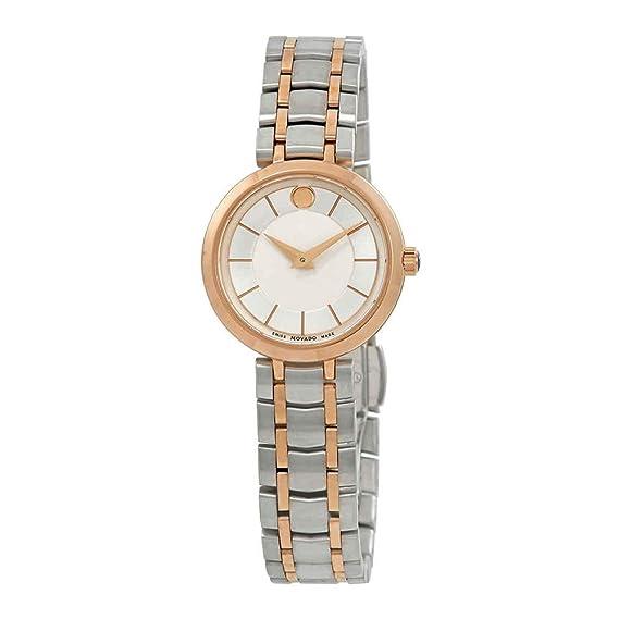 Movado 1881 Quartz Reloj de mujer cuarzo 28mm correa de acero caja de 607099: Amazon.es: Relojes