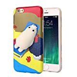 For iPhone 7 4.7inch/Plus 5.5inch Case Sinfu Cartoon Lazy Cat Soft Silicone Protective Cover (For iPhone 7 4.7inch, B)
