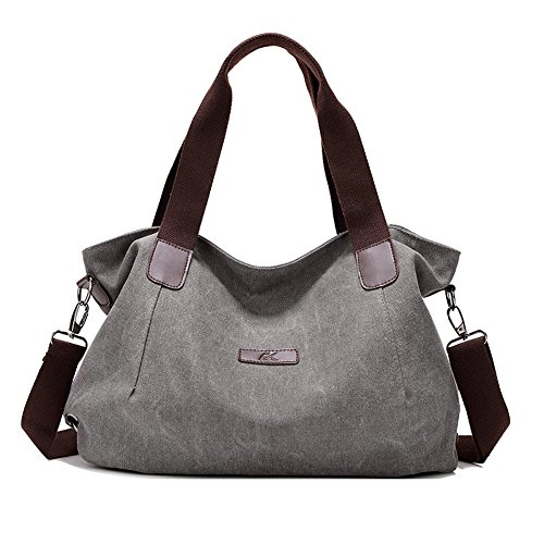 Casual Messenger (KARRESLY Women Casual Canvas Shoulder Bags Cross-Body Bag Messenger Bag Tote Bags(grey))