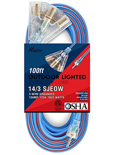 100ft 3 Outlet Extension Cord - 3