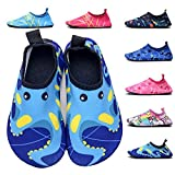 FASHOE Kids Swim Shoes Quick Dry Barefoot Socks Toddler Water Shoes Baby's Boy's Girl's -06Blue-30
