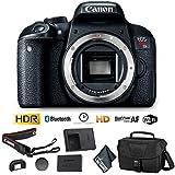 Canon EOS Rebel T7i DSLR Camera (Body Only) + Camera Bag