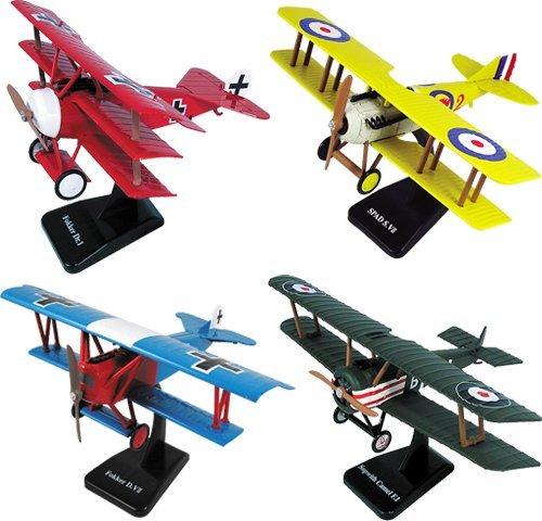 New DIECAST Toys CAR NEWRAY Model Kits - Classic Planes - Military BI-Planes Set of 4 20227S