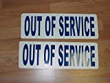 out of service signs - Blue OUT OF SERVICE Magnetic signs to fit Car, Tow Truck, Van SUV US DOT Approved Size