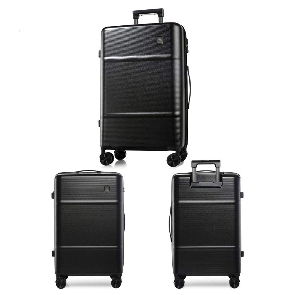 MING REN Luggage Sets Trolley Case 2 Colors Fashion Bump Line Personality Travel Waterproof Scratch Solid Color Student Luggage Silent Caster 2 Sizes availa Polyester//PC TSA Custom Code Lock