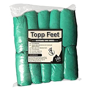 Disposable Shoe Covers By Topp Feet - pack of 100