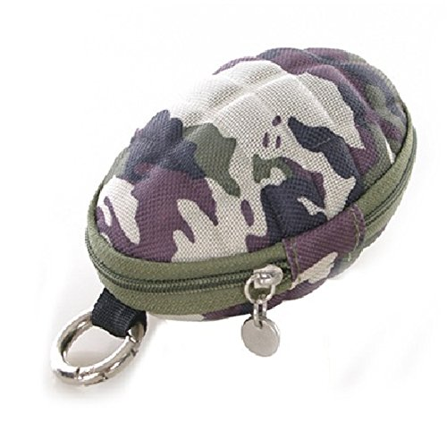NovoGifts Condor Grenade Pouch Round Camouflage Coin Wallets and Key Bag