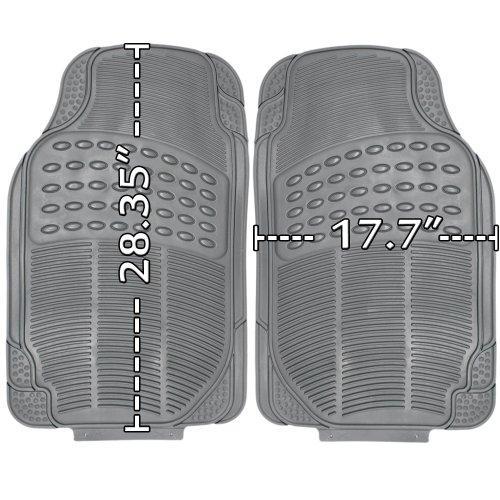 OxGord 3pc Ridge Floor Mats for Mercedes-Benz ML350, Gray