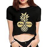 QQQWZH-A Aloha Beaches Pineapple Sunglasses Women's Cool Short Sleeve T-Shirts