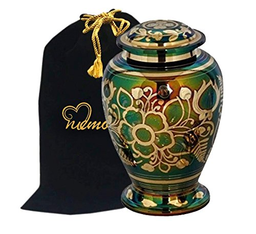 MEMORIALS 4U Emerald Green Cremation Urn