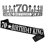 70th Birthday Gifts for Men, 70th Birthday King
