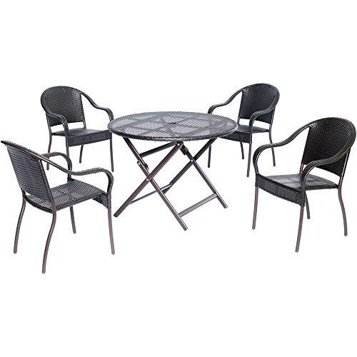 Hanover Orleans Series Dining Set (5-Piece) Brown ORLDN5PC-BRN