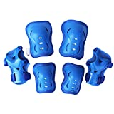 Scooter Protective Gear for Kids, Eruner Knee Pads Elbow Protector Wrist Guards Thick Padding Foam for Tricycle Rollerblade Skating Outdoor Sports, Sea Blue