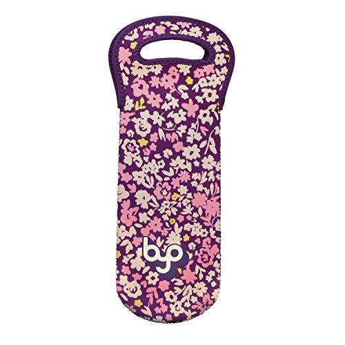 BYO One - Bolsa para botellas de vino y agua, Ditzy Floral, 1-Bottle, 1