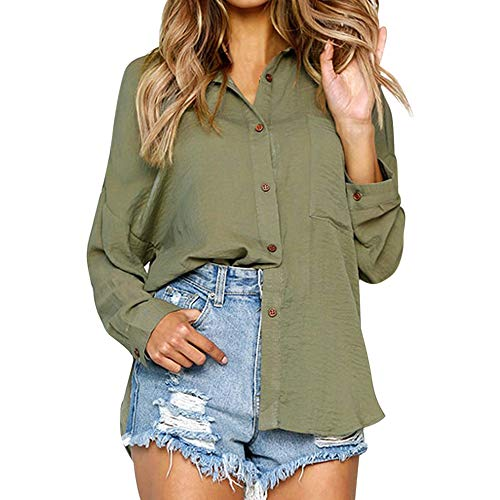 Haut Plaid Shirt Vintage Chemise lgant Vert Blouse Casual SANFASHION Vtement Loose Ingren Boutons WaR5Ynqq