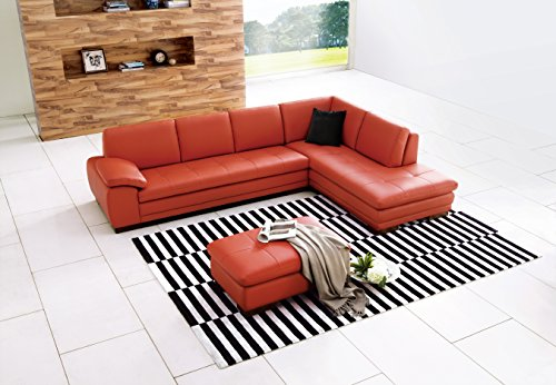 J and M Furniture 175443111-RHFC-PK Italian Leather Sectional ()