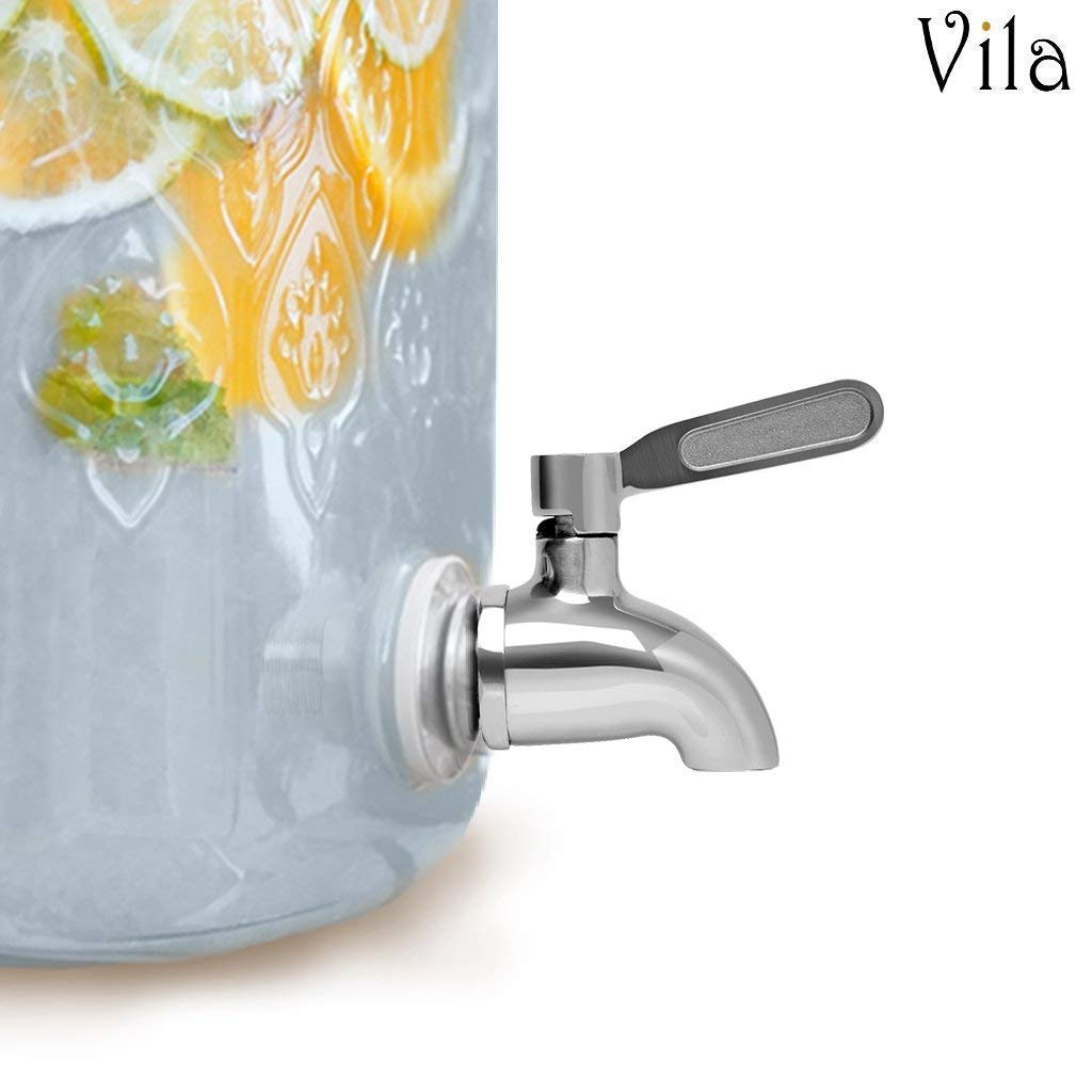 Beverage Dispenser Replacement Spigot by Vila - Stainless Steel Rust-free Spout - Dispenser for Beverages - Easy Installation under 10-Minutes - Excellent Continuous Flow