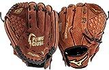 "Mizuno Prospect Baseball Glove, Chestnut, Youth/Kids, 10"", Worn on left hand"