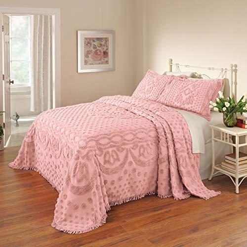 BrylaneHome Georgia Chenille Bedspread - Blush, Full ()