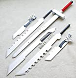 S5104 ANIME FINAL FANTASY VII 6 CLOUD STRIFE BLADES COMBINED STEEL BUSTER SWORD 51.8""