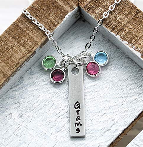 Grandma Birthstone Necklace - 'Grams' - Personalized Grandma Jewelry for Mother's Day - Jewelry Gift Idea for Grams - Fast Shipping