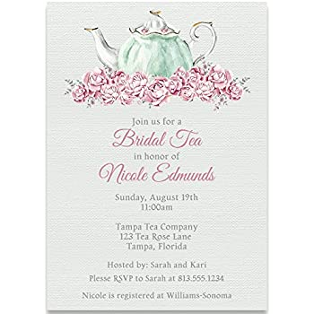 Amazon bridal shower invitations bridal tea white mint pink bridal shower invitations bridal tea white mint pink tea party wedding filmwisefo
