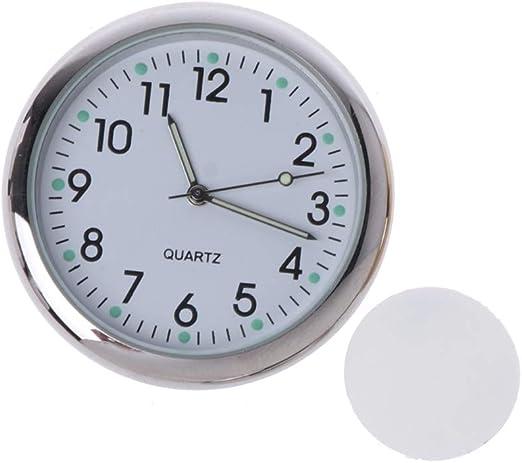 Gjyia Universal Auto Uhr Aufklebbare Elektronische Uhr Armaturenbrett Nachtleuchtende Dekoration Für Suv Autos Küche Haushalt