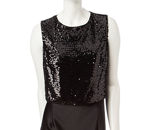marina-juniors-sequined-sleeveless-formal-cropped-top-black-x-large