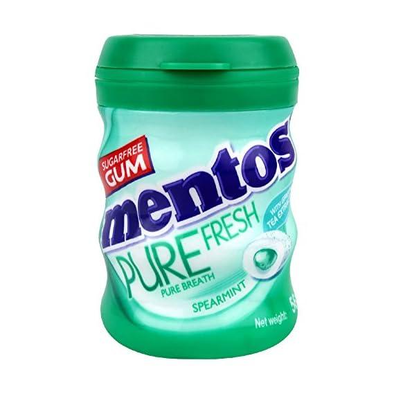 Mentos Pure Fresh Gum, Bottle, Spearmint, 54.6g