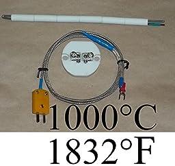 K Thermocouple Terminal block Ceramic Insulator Kiln Temperature Sensor Probe