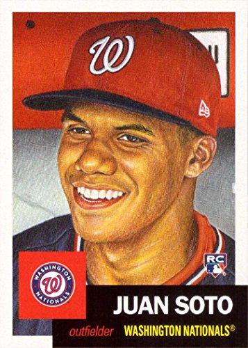 2018 Topps Living Set #43 Juan Soto Baseball Rookie Card Washington Nationals