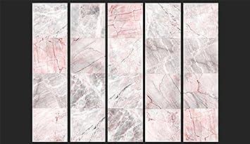 murando PURO TAPETE selbstklebend 10m Wandtattoo dekorative M/öbelfolie Dekorfolie Fotofolie Panel Wandaufkleber Wandposter Wandsticker Marmor Shwarz Rot f-C-0235-j-a